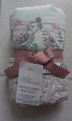 Next Baby Girls Little Blossom Cot/Cot Bed Quilt (4 Tog) Size 100 x 120cm - BNWT
