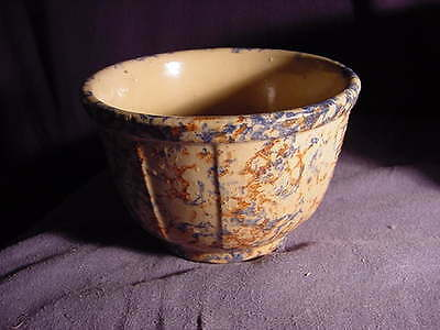 Antique Red Wing Pottery SpongeWare Bowl # 6 Stone Ware Ribbed Sponge Ware Panel