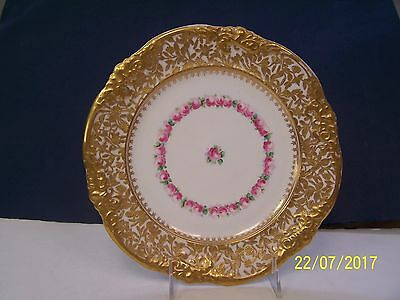 Hammersley Heavy Gold Encrusted Plate with Roses