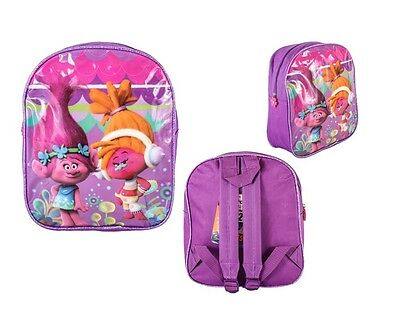Dreamworks Trolls Poppy Backpack Holiday Childrens Kids Character School Bag