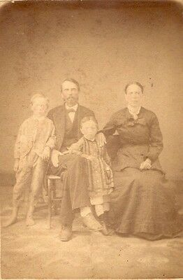 Original CDV Photo from Wytheville Virginia by W.A. Johnston Unknown Family