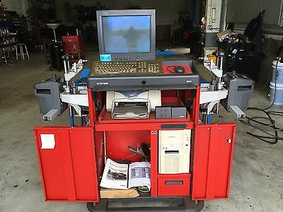 Hunter R611 Alignment Machine With New Atlas Wheel Stands and Turntables