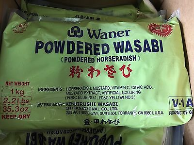 WANER WASABI POWDER 1 Case In Selling!!! 2.2lbs(per Bags)HORSERADISH