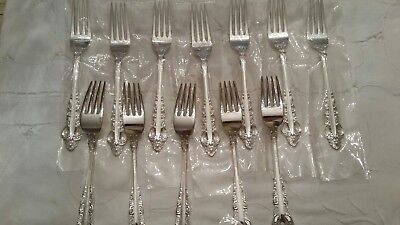 "REED & BARTON Silverplate ""SILVER MAJESTY""  service for 12 + extra serving pcs."