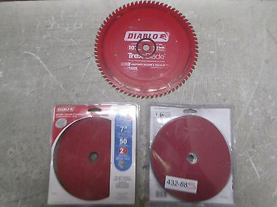 Diablo Angle Grinder Wheels & Saw Blades (GOOD COND, QTY 3); 432-88S