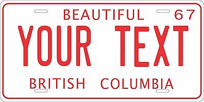 British Columbia 1963 License Plate Personalized Auto Bike Motorcycle Moped