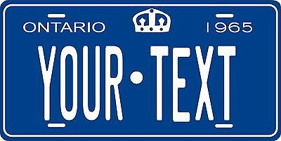 Ontario 1965 Canada Tag License Plate Personalized Auto Bike Motorcycle Moped