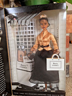 MATTEL Barbie Left My Heart In San Francisco See's Candies Special Edition MIB