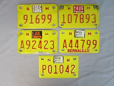 Lot Of 5 Original New Mexico Motorcycle License Plates All In Used Condition • $16.50