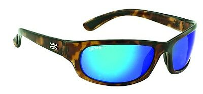 New Polarized Calcutta Steelhead Sunglasses Tortoise/Blue Mirror 63mm SH1BMTORT