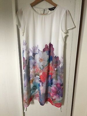 Beautiful white Floral Asos Maternity Dress Size 10
