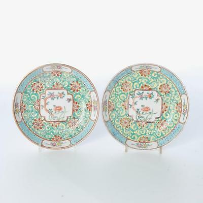 Vintage Matching Pair Of Wony Japanese Porcelain Dishes Decorated In Hong Kong