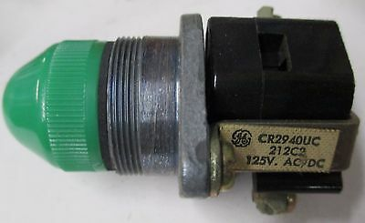 GE CR2940UC212C2 Heavy Duty Oil Tight Green Indicator Light 125VAC/VDC