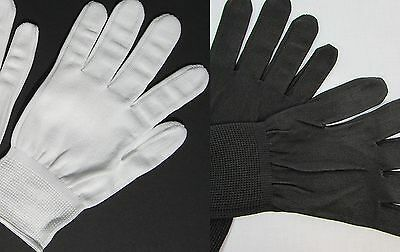 Women M-L Cotton Short Gloves Elastic Wrist for Work, Uniform, Costume