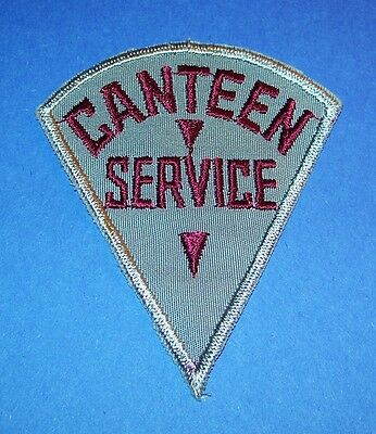 Original Cut-Edge Twill Ww2 Arc Red Cross Canteen Service Patch