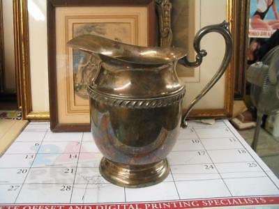 Antique Large Silver-Plate Water Pitcher