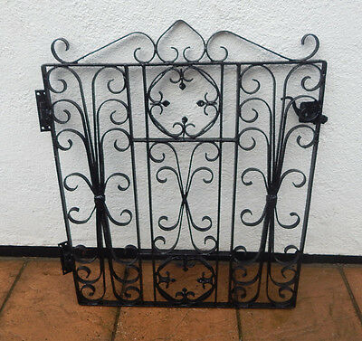 Reclaimed vintage wrought iron single garden gate; quite heavy, recently painted