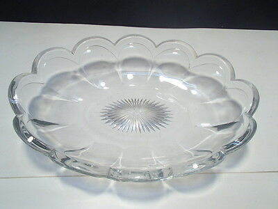 HEISEY OVAL SERVING BOWL (H) Marked