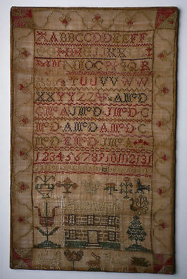 Antique late Georgian Scottish sampler Janet McDonald 1832