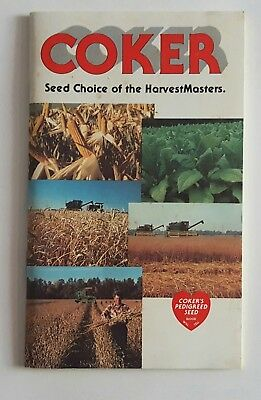 """Vintage Coker """"Seed Choice of the HarvestMaster"""" Farming Planting Booklet"""