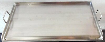 """32"""" x 17"""" Stainless Steel Comal Flat Top BBQ Cooking Griddle For Stove or Grill"""