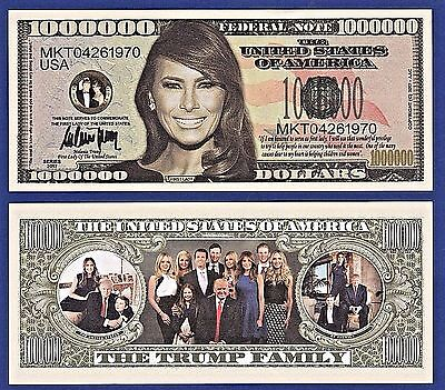 2-Melania Trump - First Lady - First Family -Dollar Bills Gift-Novelty  -P2