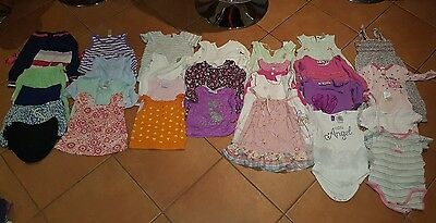 bulk girls clothing size 0 or 6 to 12 months (31 items)