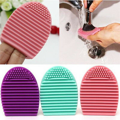 Silicone Makeup Brush Cleaner Glove Egg Scrubber Cosmetic Cleaning Board Pad Mat