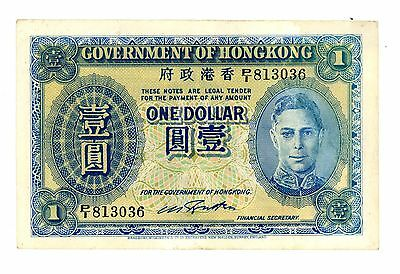 Hong Kong  ... P-316 ... 1 Dollar ... ND (1940) ... (~) *XF*.