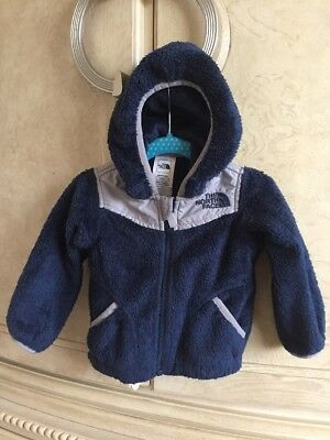 ❤️The North Face Thermal Fleece Boys Sz 6-12-18 Months Oso Jacket Hooded Coat