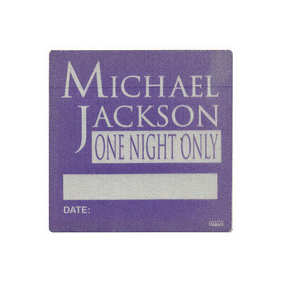 Michael Jackson authentic ALL ACCESS 1995 tour Backstage Pass