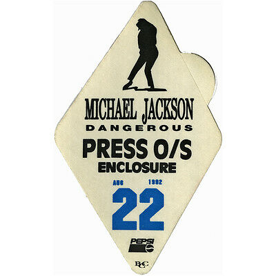 Michael Jackson authentic Press 1992 tour Backstage Pass