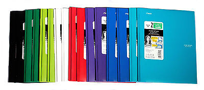 Mead Five Star 2 Pocket & 3 Prong Folders Heavy Duty Poly Stay-put Tabs 16 Count