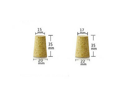 High Quality 100Pcs Conical Natural Cork Bottle Stoppers Wine Corks Crafts S11