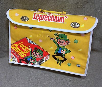 Vintage Lucky Charms Cereal Kids Briefcase General Mills Collectible Rare Unused