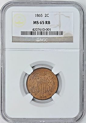 1865 2 Cent Piece NGC MS65RB  *$800 Value*