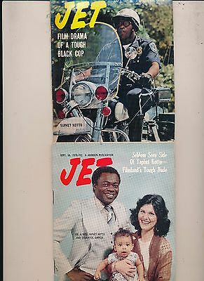Lot(2) Yaphet Kotto Jet Magazines 6/1/1972 9/16/1976 Very Good Con No Labels