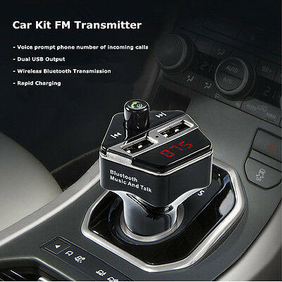 Bluetooth MMC MP3 Player Radio FM Transmitter Car Kit Charger for iPhone 7 Plus