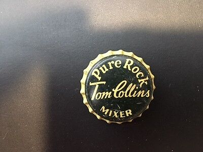 Pure Rock Tom Collins Mixer Cork Backed Used Bottle Cap