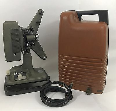 VINTAGE FILM MOVIE PROJECTOR REVERE  MODEL 48 16 MM HARD CASE Free Shipping