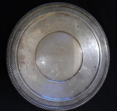 SALE! VTG Fisher Sterling Silver Reticulated Edge Tray #2129