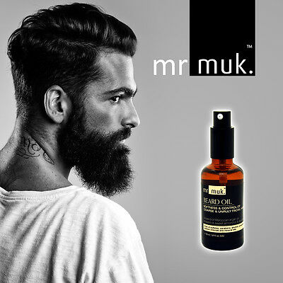Mr MUK BEARD OIL Argan | Linseed | Sweet Almond | Aloe Vera - NON Greasy Spray