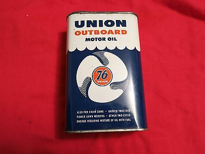 UNION 76 OUTBOARD MOTOR OIL Vintage Antique Oil Grease Marine Can lot 5