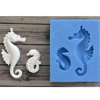 3D Sea Horse Silicone Fondant Mold Cake Decor Chocolate ...