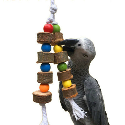 Pet Bird Parrot Swing Ball Toy Chew Bites for Parakeet Cockatiel Cockatoo Conure