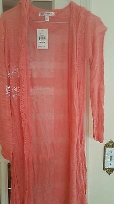NEW pink light weight spring long cardigan sweater BN With tags S,M,L,XL