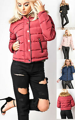 IKRUSH Womens Evelin Faux Fur Quilted Jacket