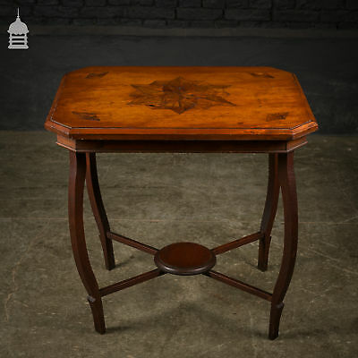 Late Victorian Marquetry Side Table with Star Design
