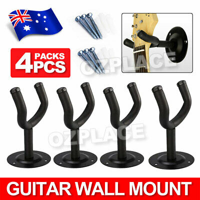 4X Guitar Wall Mount Soft Rubber Foam Padded Hanger Bracket Hook Mount Holder AU