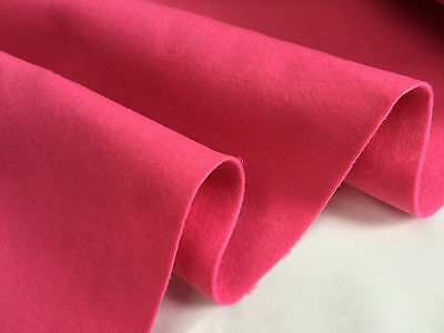 FELT FABRIC Material Craft Plain Colours Polyester -102cm Wide - PINK